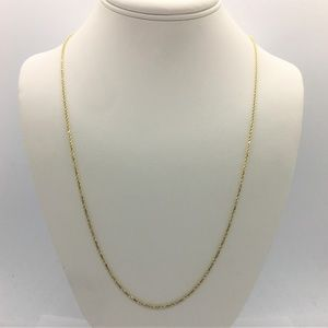 Jewelry - 14k Gold Diamond Cut Rope Chain Necklace 30""